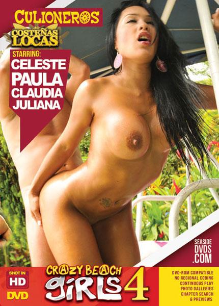 Crazy Beach Girls, Costenas Locas 4, 2017 Porn DVD, Culioneros, Celeste, Paula, Claudia, Juliana, Gonzo, Latin, Public Sex