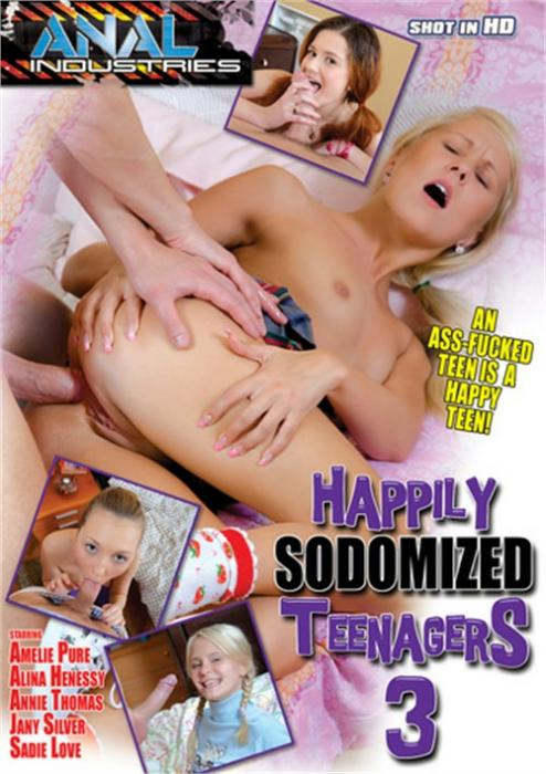 Happily Sodomized Teenagers 3, 2017 Porn DVD, Anal Industries, Amelie Pure, Alina Henessy, Annie Thomas, Jany Silver, Sadie Love, 18+ Teens, All Sex, Anal