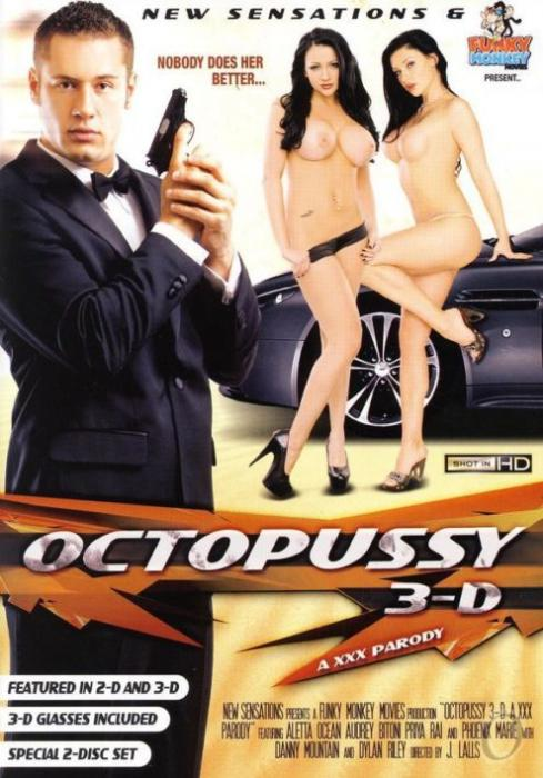 Octopussy 3-D, A XXX Parody, New Sensations, J. Lalls, Aletta Ocean, Priya Anjali Rai, Phoenix Marie, Audrey Bitoni, Dylan Ryan, Danny Mountain, 3D, Action, Feature, Parody, Spies & Secret Agents
