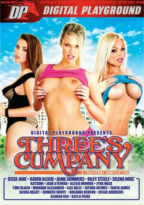 Three's Cumpany Porn DVD from Digital Playground