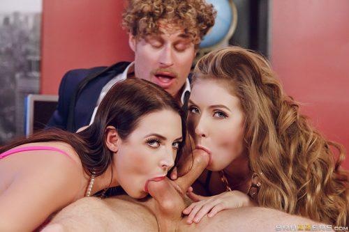 Big tits at work porn logic lena paul